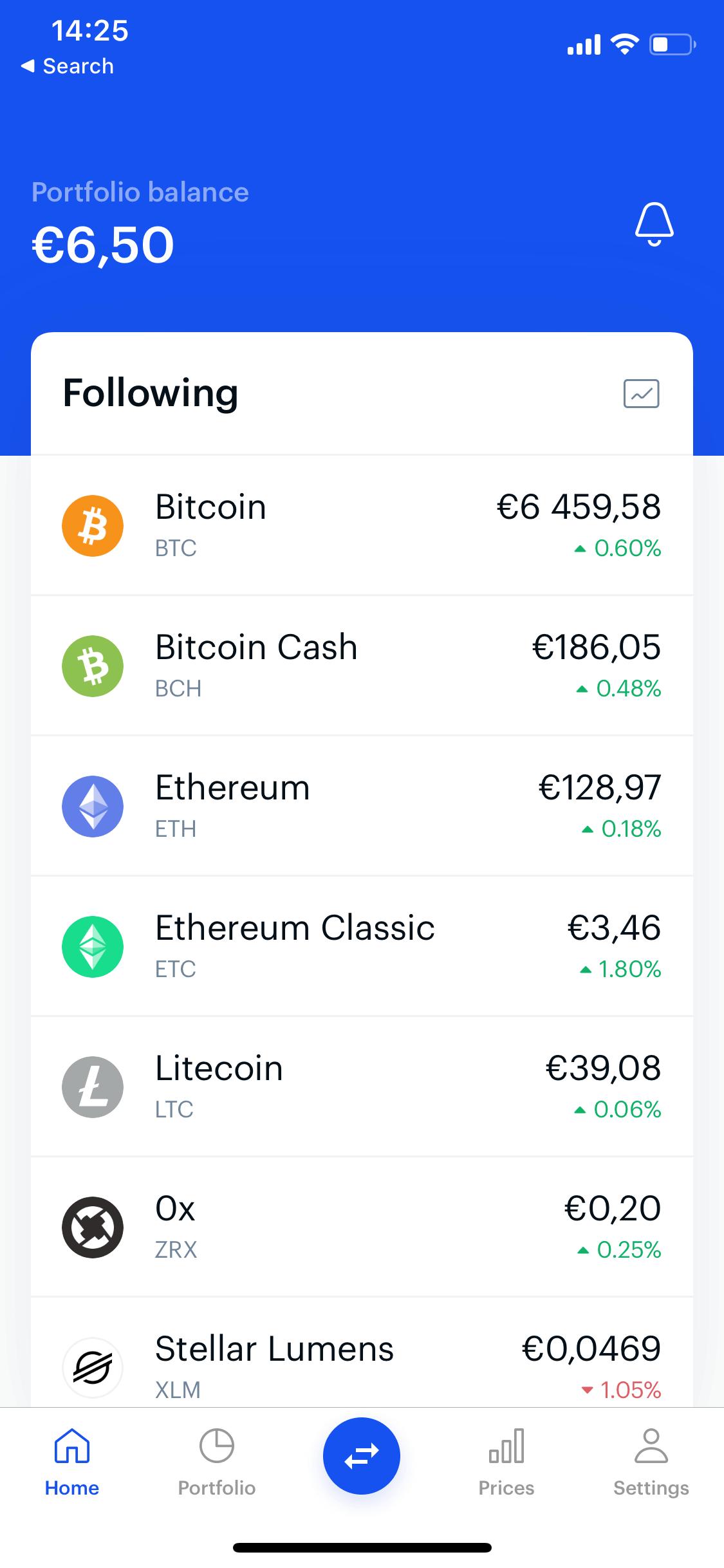 Coinbase screen 1