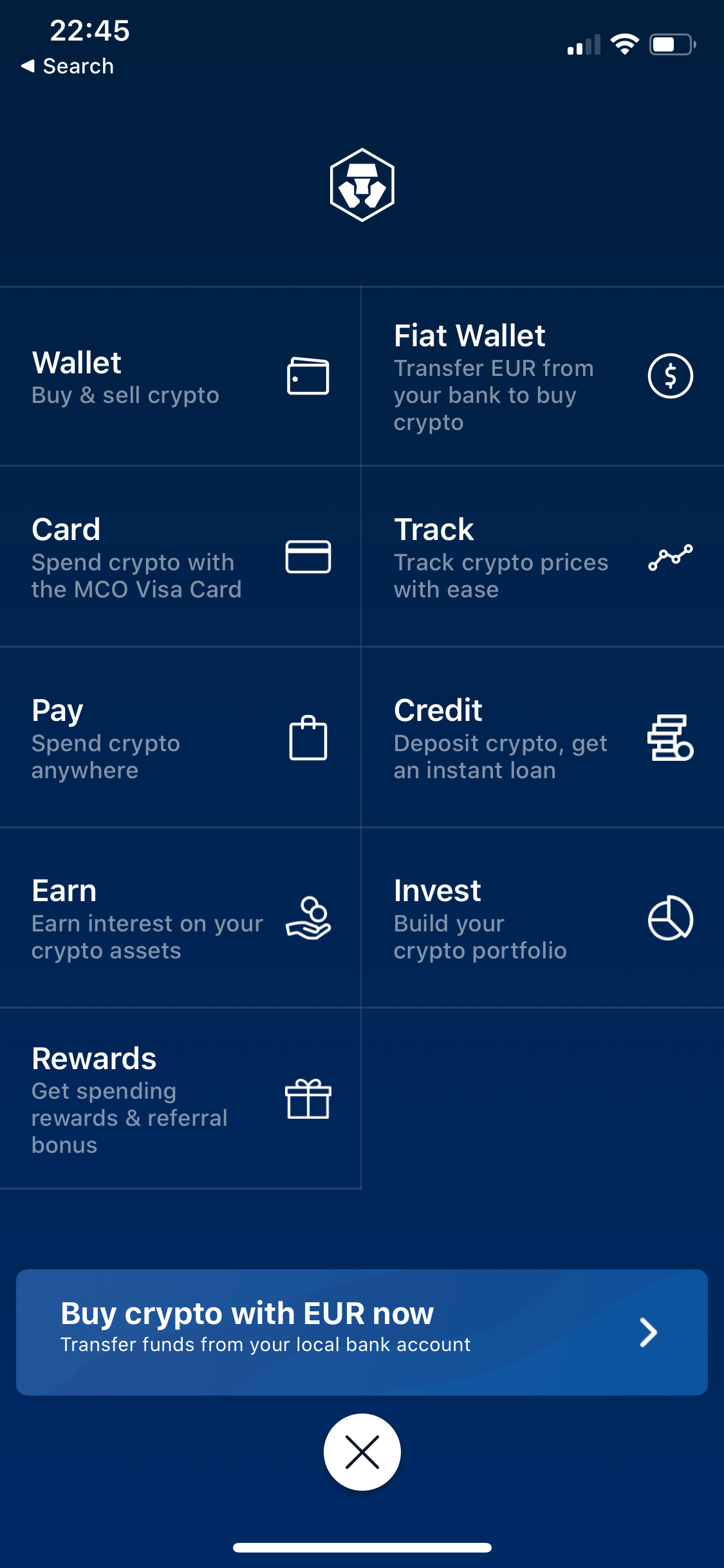 Crypto.com screen 0
