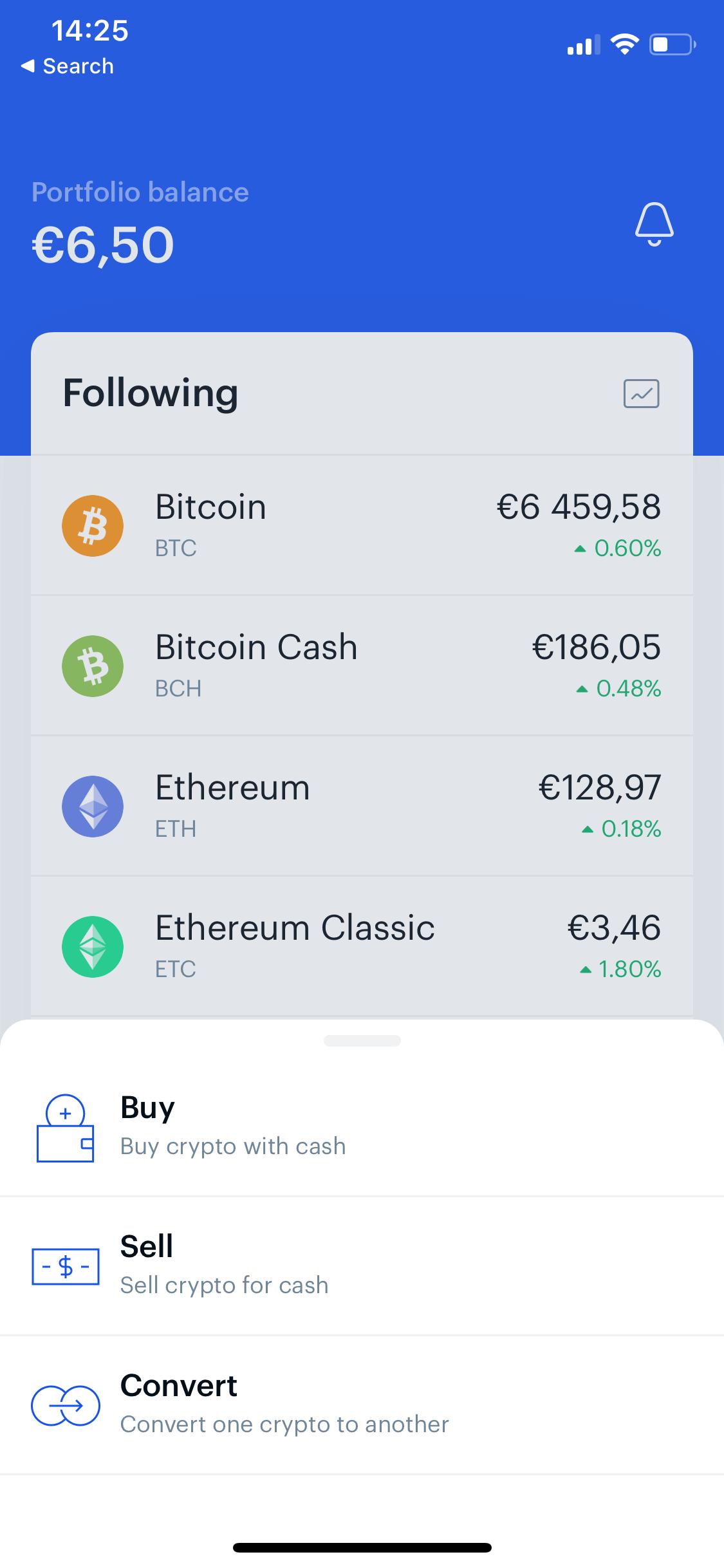 Coinbase screen 2