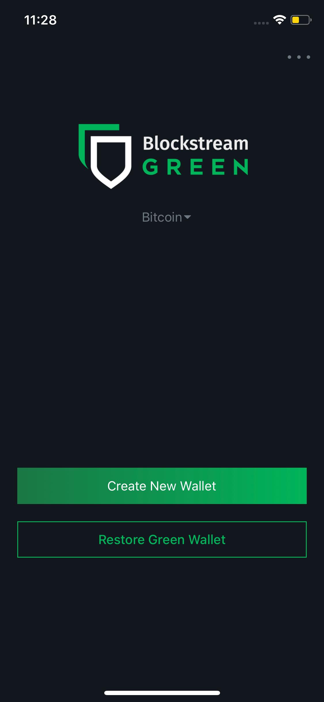 Blockstream Green screen 0