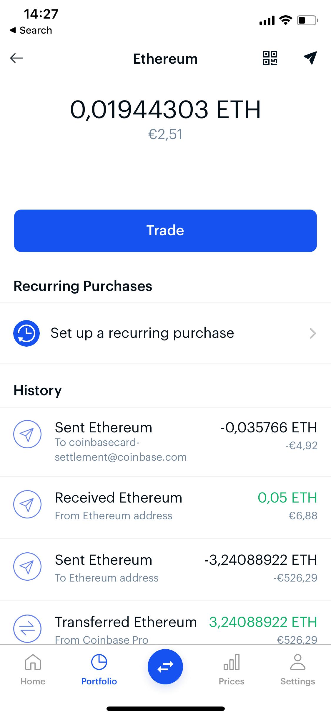 Coinbase screen 0
