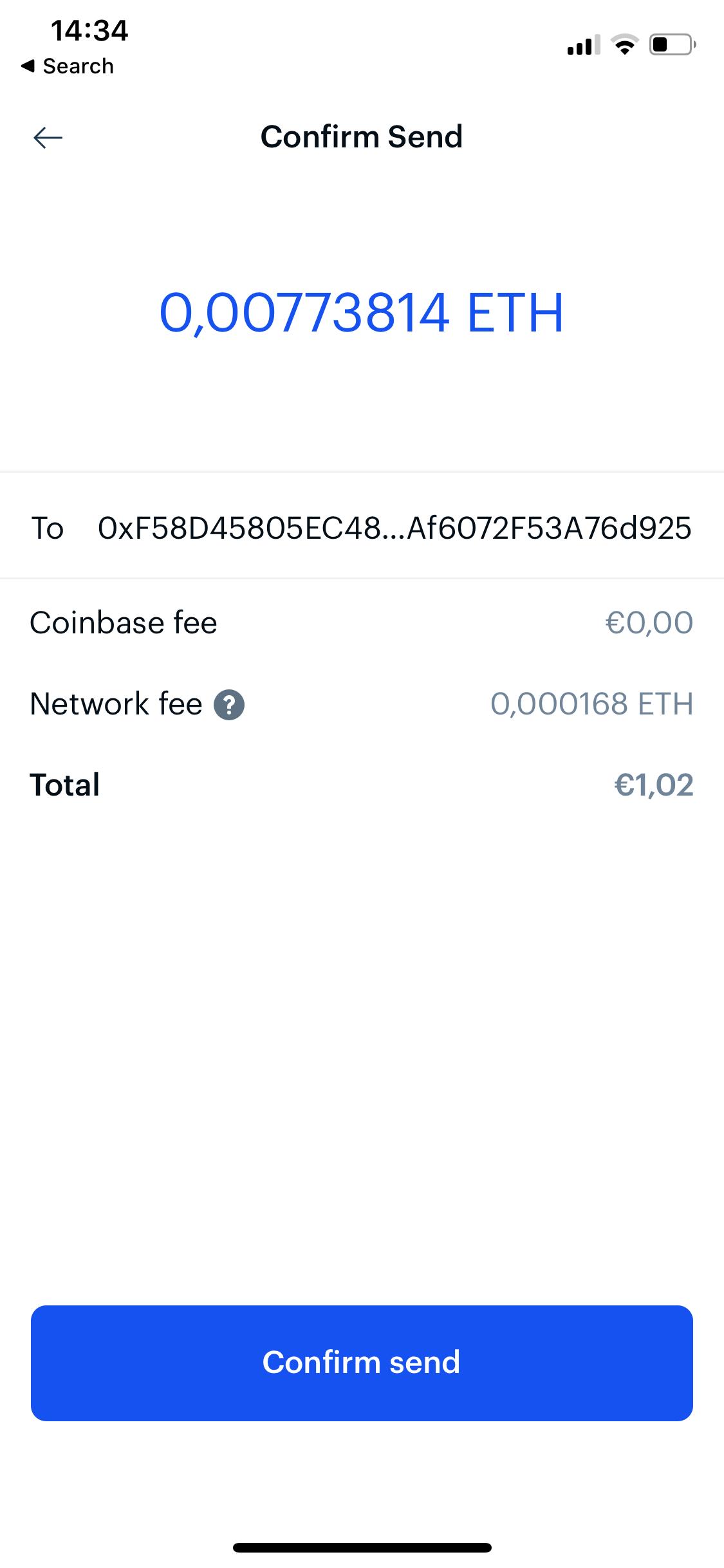Coinbase screen 3